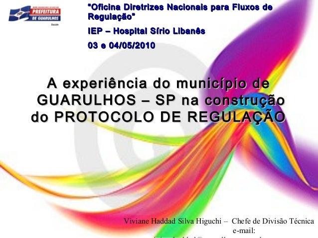 A experiência do município deA experiência do município de GUARULHOS – SP na construçãoGUARULHOS – SP na construção do PRO...