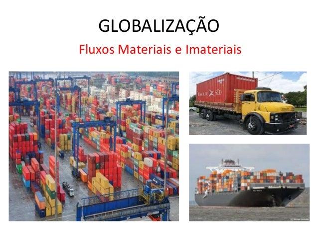 GLOBALIZAÇÃO Fluxos Materiais e Imateriais