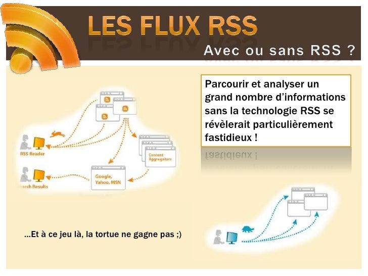 Les flux RSS<br />Avec ou sans RSS ?<br />Parcourir et analyser un grand nombre d'informations sans la technologie RSS se ...