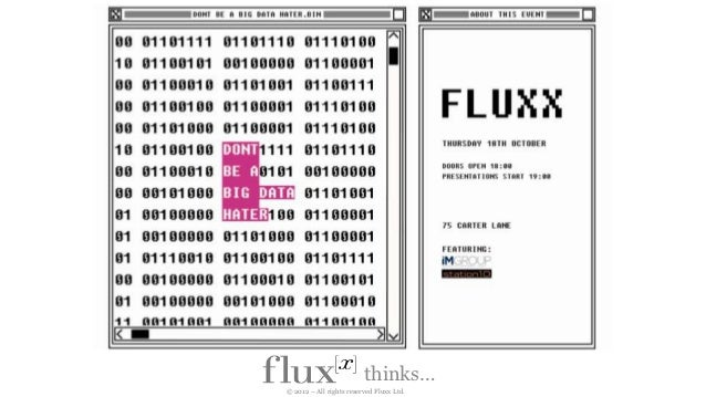 thinks…© 2012 – All rights reserved Fluxx Ltd.
