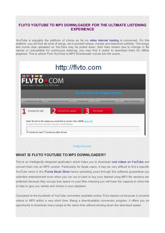 flvto youtube downloader mp3