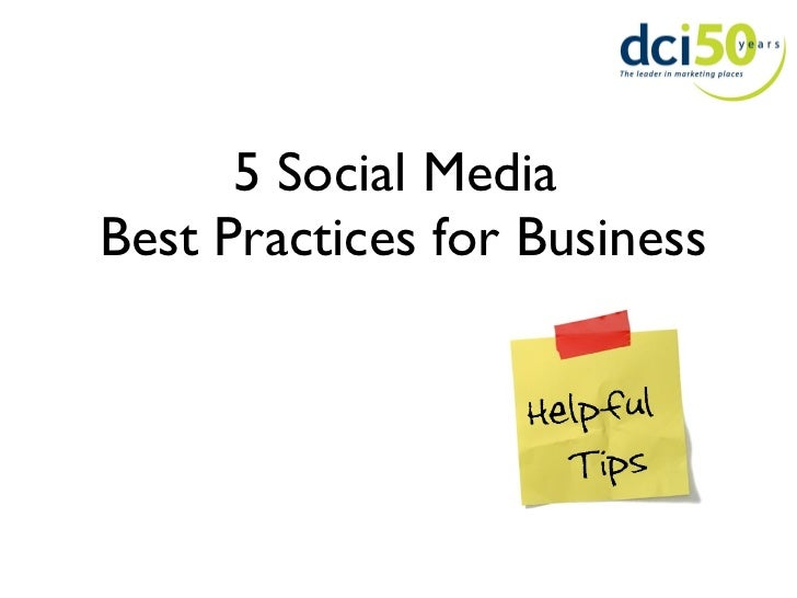 5 Social Media  Best Practices for Business