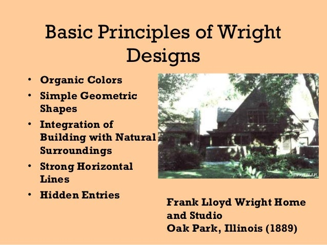 Basic Principles of Wright Designs .