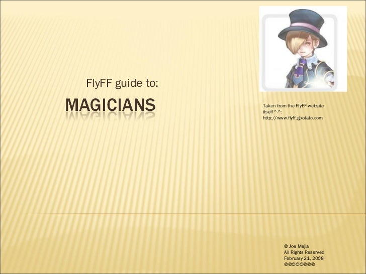 FlyFF Guide Magicians