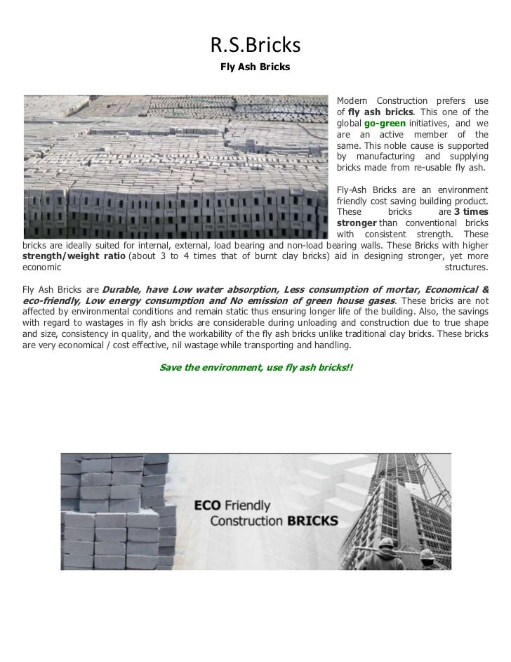 case study on fly ash bricks Bricks roofing siding and trim product literature technical bulletins case study case study - fly ash - slc-library facebook youtube twitter flickr.