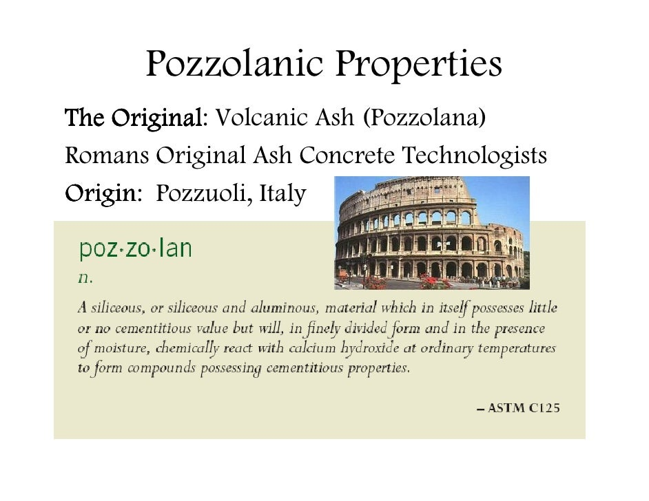 Pozzolana Cement Italy : Fly ash is green not gray