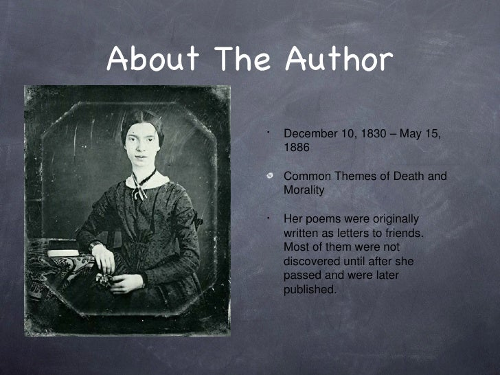 emily dickinson i heard a fly The tone and mood in i heard a fly buzz-when i died dickinson writes this poem from a perspective after she has died she is describing the experience of dying, the.