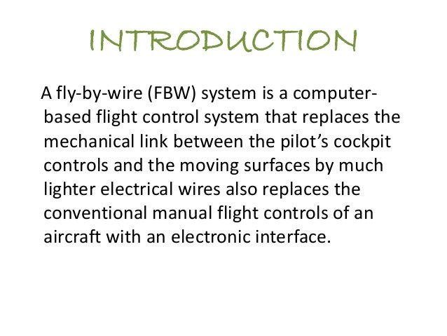 Fly by wire ppt pa1