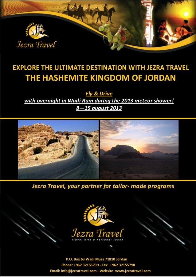 EXPLORE THE ULTIMATE DESTINATION WITH JEZRA TRAVEL   THE HASHEMITE KINGDOM OF JORDAN                           F  D    wh ...