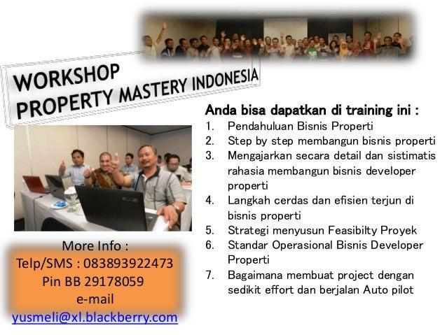 Anda bisa dapatkan di training ini : 1. Pendahuluan Bisnis Properti 2. Step by step membangun bisnis properti 3. Mengajark...