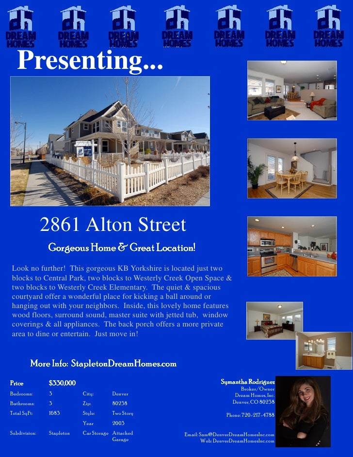 Presenting...                    2861 Alton Street                Gorgeous Home & Great Location! Look no further! This go...