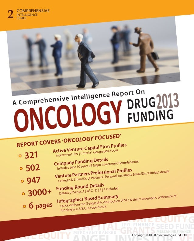Oncology Drug Funding 2013 - A Comprehensive Report on