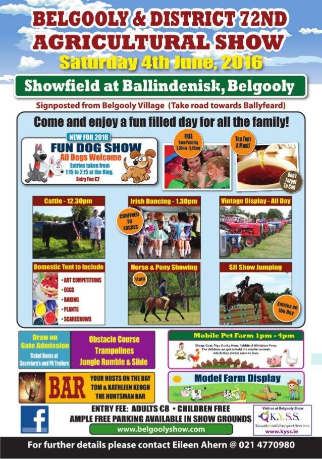 Belgooly Show 2016 Flyer
