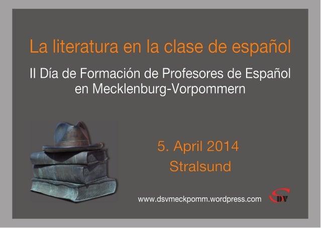 Flyer: La literatura en la clase de español - DSV