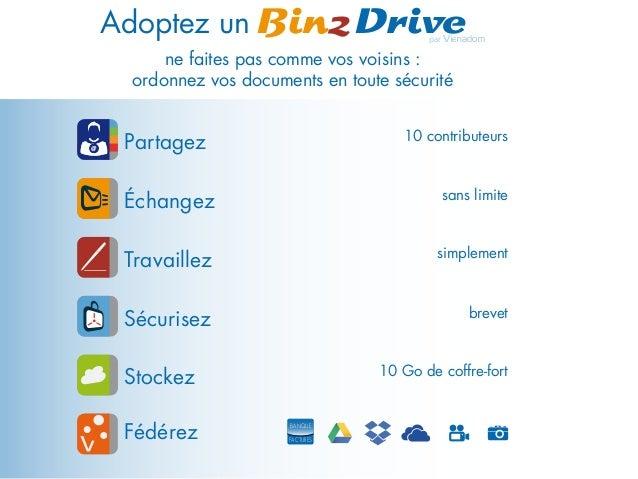 par Vienadom Adoptez un BinzDrive ne faites pas comme vos voisins : ordonnez vos documents en toute sécurité Stockez 10 Go...