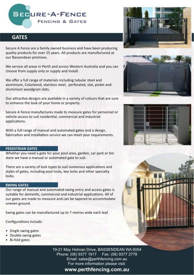 Gates - Brochure