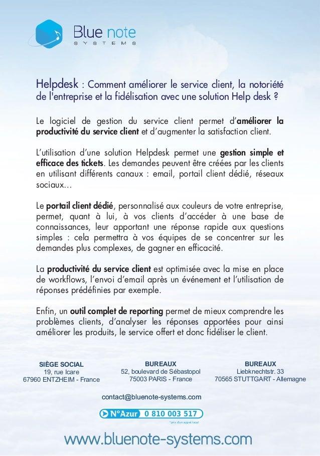 contact@bluenote-systems.comcontact@bluenote-systems.com BUREAUX 52, boulevard de Sébastopol 75003 PARIS - France SIÈGE SO...