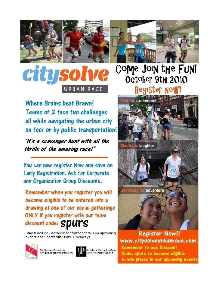 City Solve Urban Race