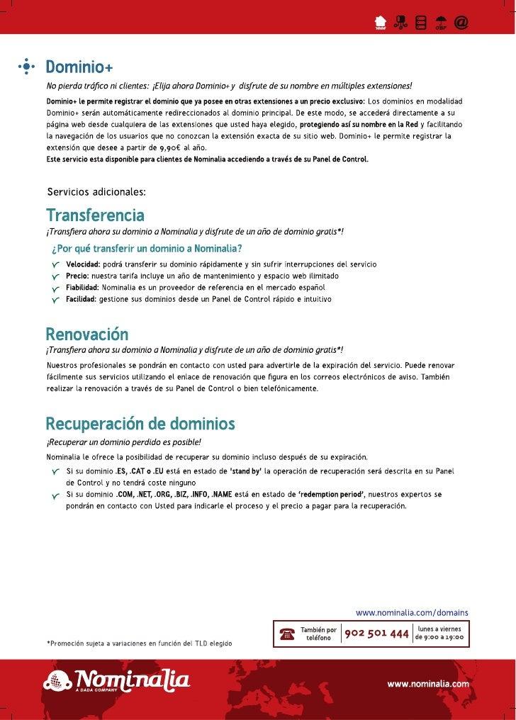 Nominalia - Dominios