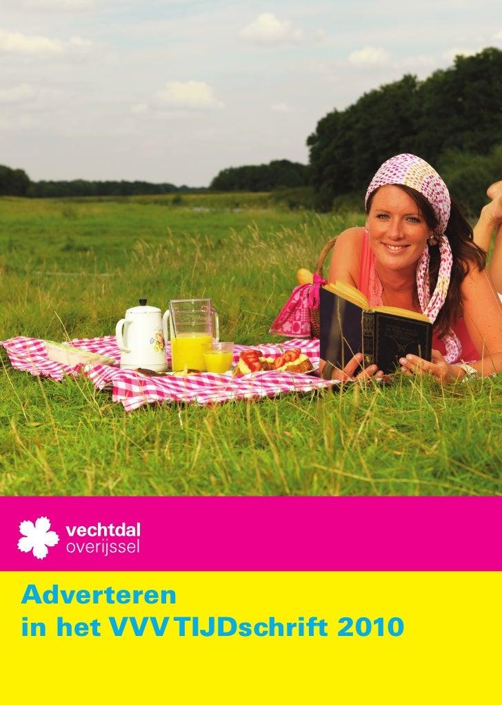 Adverteren in het VVV TIJDschrift 2010