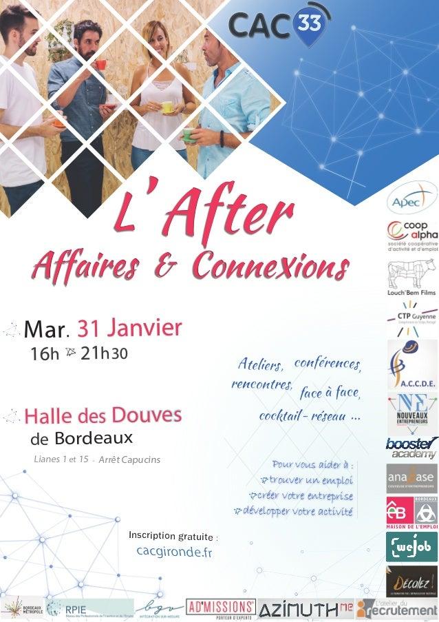 L' After Affaires & Connexions L' After Affaires & Connexions Ateliers, conférences, rencontres, face à face, cocktail - r...