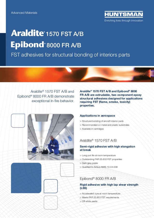 Araldite® 1570 FST A/B and Epibond® 8000 FR A/B demonstrate exceptional in-fire behavior. Araldite® 1570 FST A/B and Epibo...