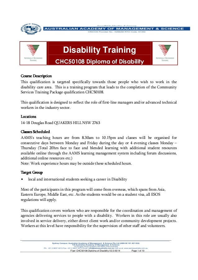Diploma of community services work online course