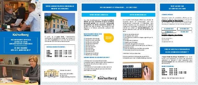 À partir du 2 janvier 2017, l'administration communale de Koekelberg modifie ses horaires et vous offre la gratuité pour u...
