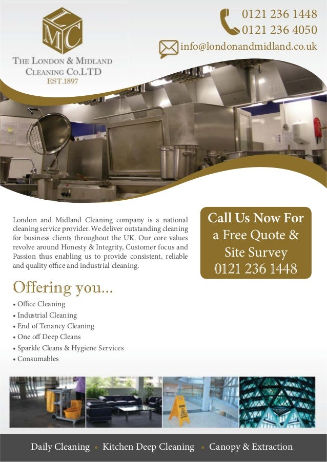 The London and Midland Cleaning Company, Commercial Cleaning Company …