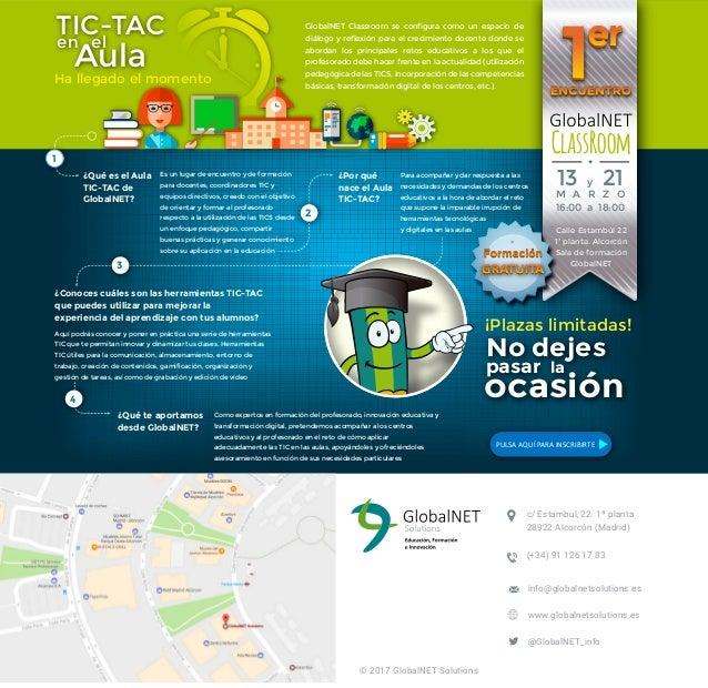 ClassRoom GlobalNET Classroom se configura como un espacio de diálogo y reflexión para el crecimiento docente donde se abo...