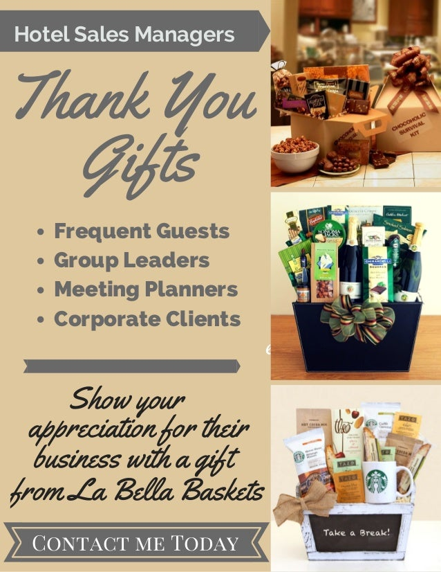 Hotel Sales Managers Thank You Gifts