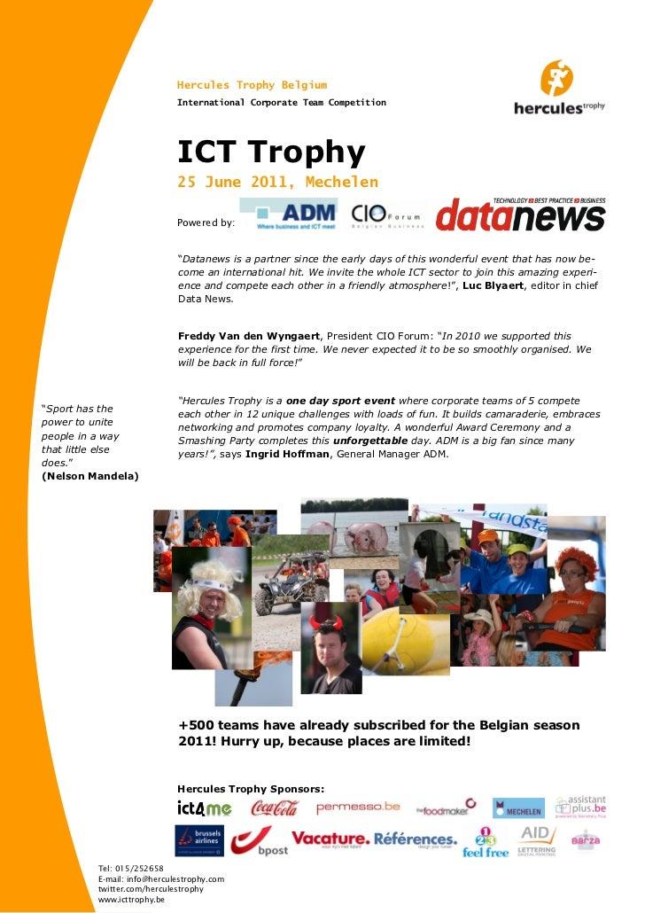 Hercules Trophy Belgium                            International Corporate Team Competition                            ICT...