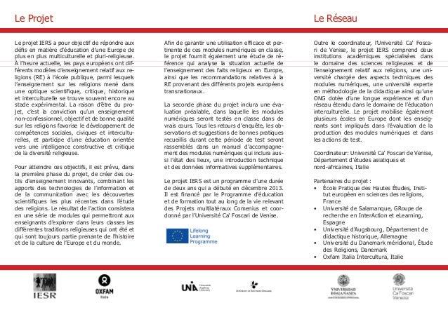 Le projet IERS a pour objectif de répondre aux  défis en matière d'éducation d'une Europe de  plus en plus multiculturelle...