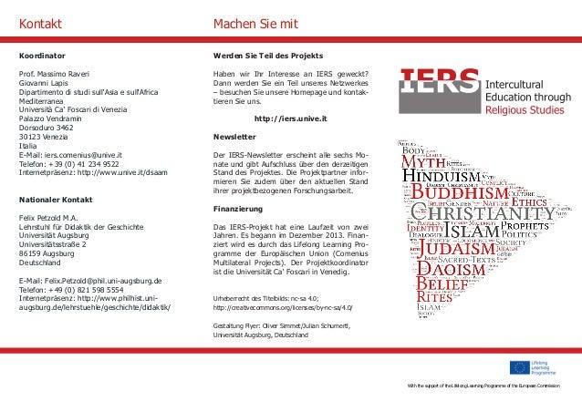 With the support of the Culture Programme of the European Commission  Werden Sie Teil des Projekts  Haben wir Ihr Interess...