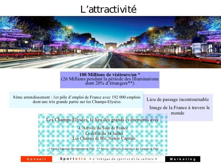 L'attractivité                                     100 Millions de visiteurs/an *                            (26 Millions ...