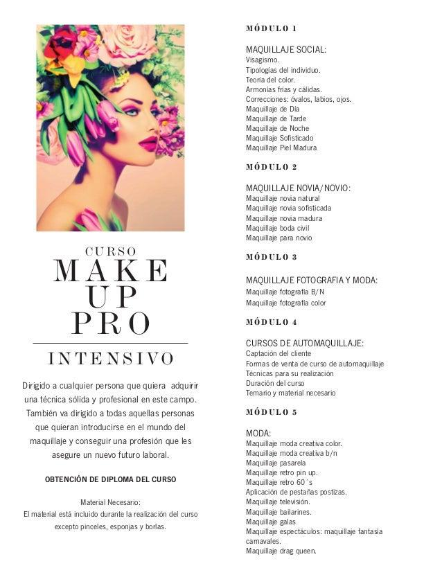acc9c7ba8 Makeup Pro: Curso intensivo de maquillaje profesional imapartido por You  Make Up Studio Badalona