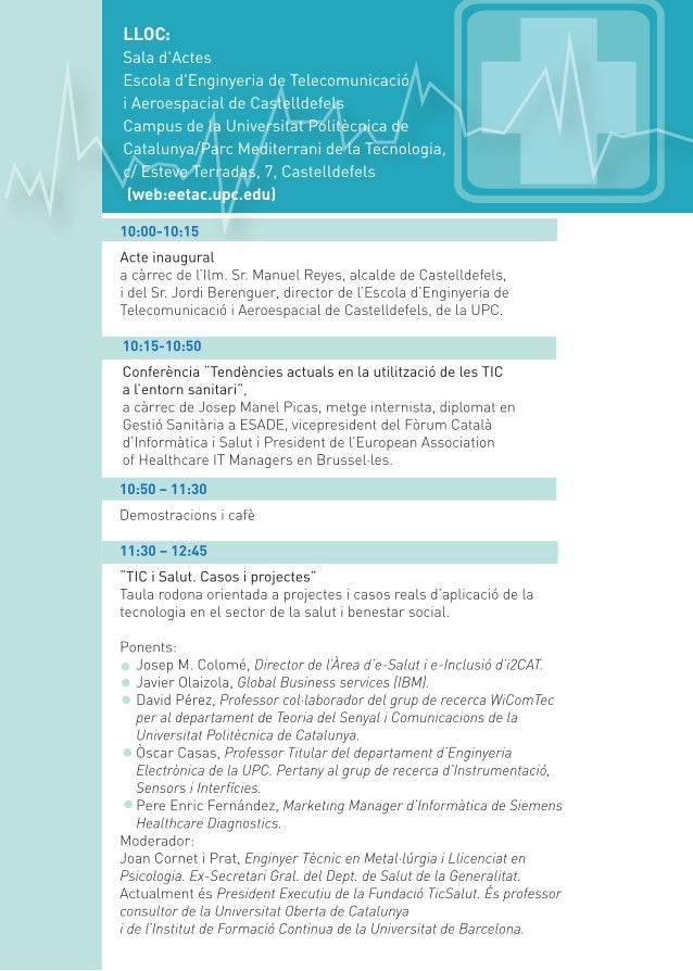 Jornada Smart Health 2012 EETAC