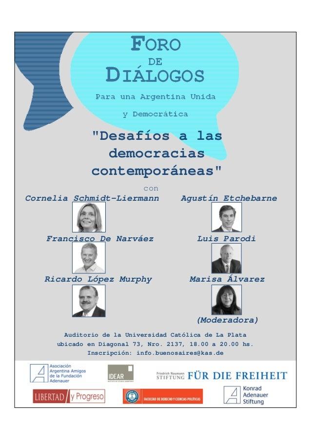 Auditorio de la Universidad Católica de La Plataubicado en Diagonal 73, Nro. 2137, 18.00 a 20.00 hs.Inscripción: info.buen...
