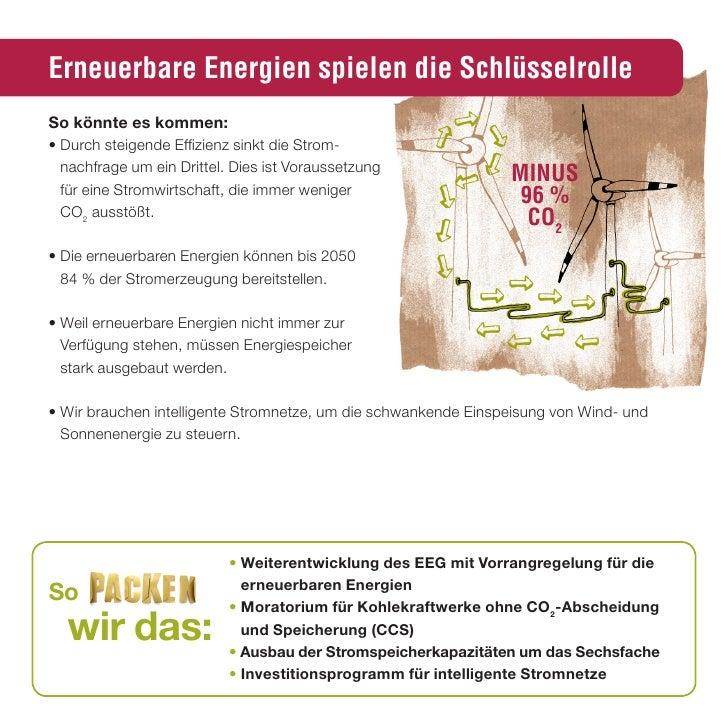 Erneuerbare Energien spielen die Schlüsselrolle so könnte es kommen: • Durch steigende Effizienz sinkt die Strom-   nachfr...