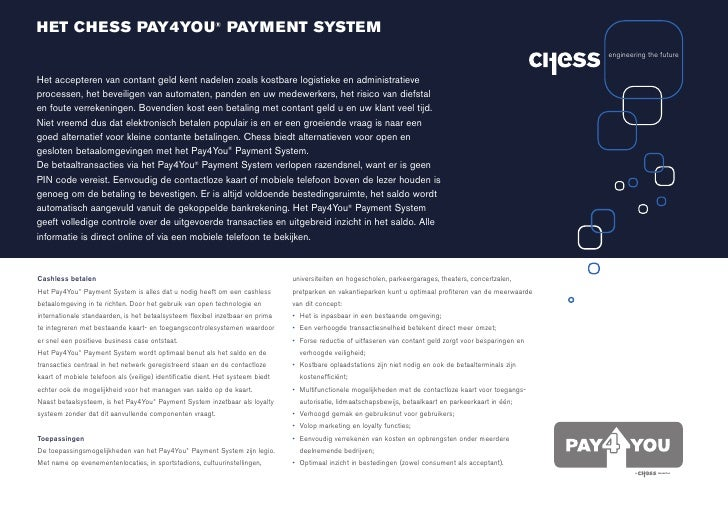 HET CHESS PAY4YOU® PAYMENT SYSTEM                                                                                         ...
