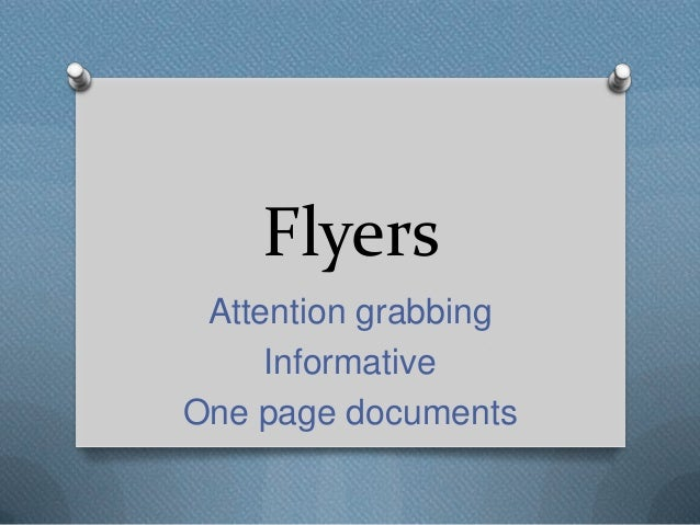 flyer presentation flyers attention grabbing informative one page documents