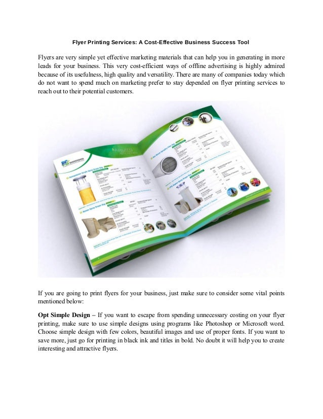 Flyer Printing Services: A Cost-Effective Business Success Tool Flyers are very simple yet effective marketing materials t...