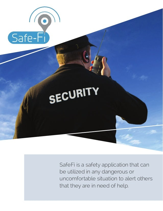 SafeFi is a safety application that can be utilized in any dangerous or uncomfortable situation to alert others that they ...
