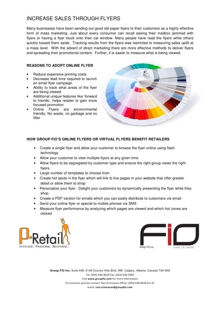 INCREASE SALES THROUGH FLYERS Many businesses have been sending out good old paper flyers to their customers as a highly e...