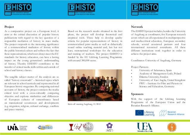 EHISTO Project flyers Slide 2