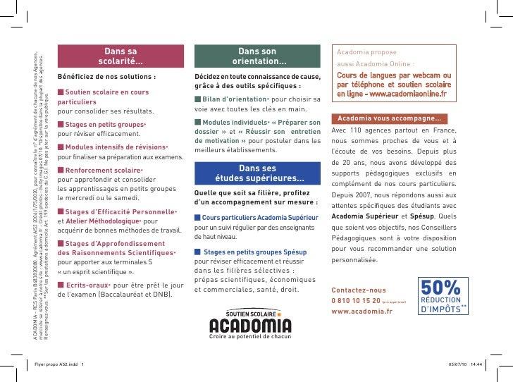 Dans sa                                      Dans son                        Acadomia proposeACADOMIA - RCS Paris B4838200...