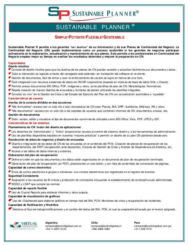 """SUSTAINABLE PLANNER  ®  SIMPLE•POTENTE•FLEXIBLE•SOSTENIBLE Sustainable Planner ® permite a los gerentes """"ser dueños"""" de su..."""