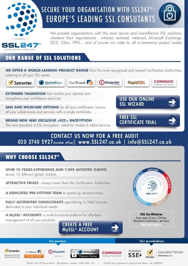 Flyer Ssl Certificates English