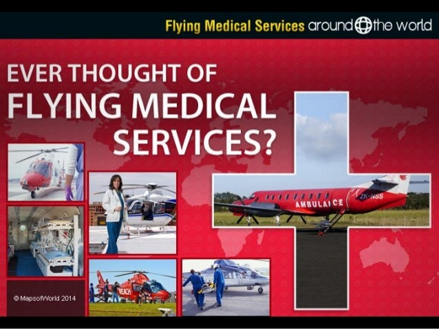 Flying medical services around the world