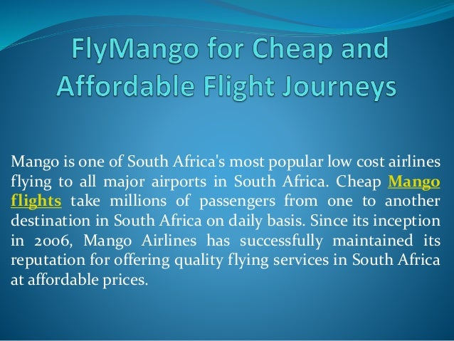Fly Mango For Cheap And Affordable Flight Journeys